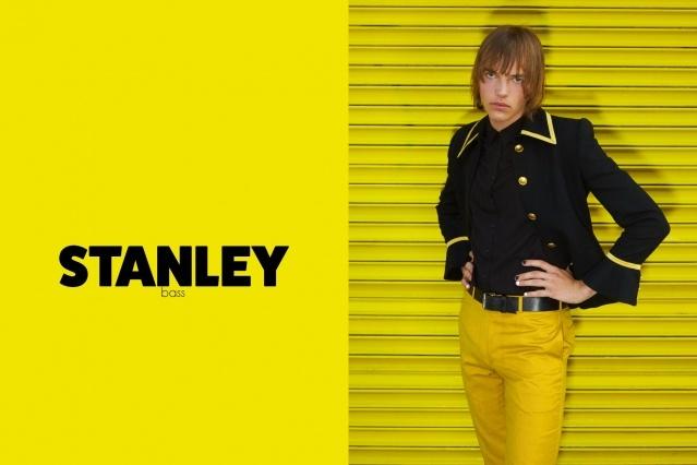 Bassist Stanley Simons from GIRL SKIN. Photography by Alexander Thompson for Ponyboy magazine.