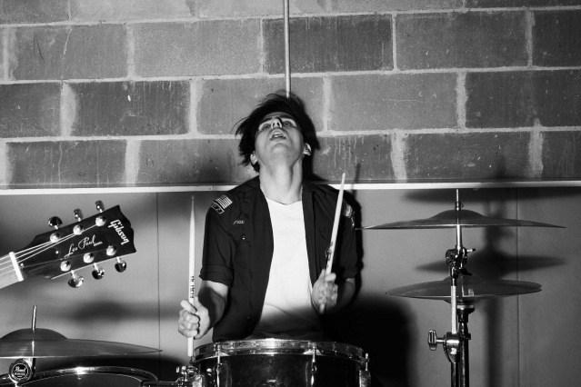 WYLDLIFE drummer Stevie Rios photographed by Alexander Thompson for Ponyboy magazine.