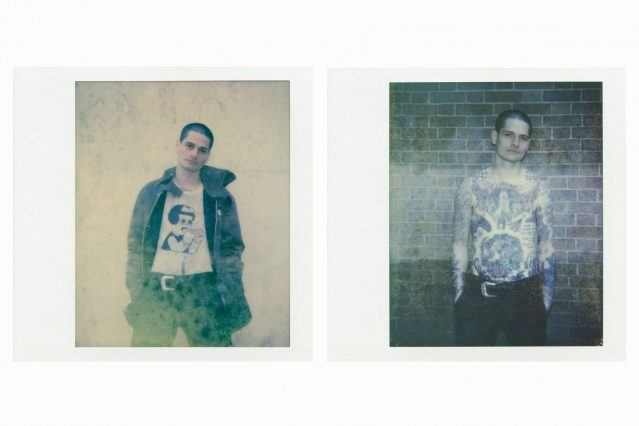 Polaroids of singer Dave Feldman from Wyldlife band. Photos Alexander Thompson for Ponyboy magazine.