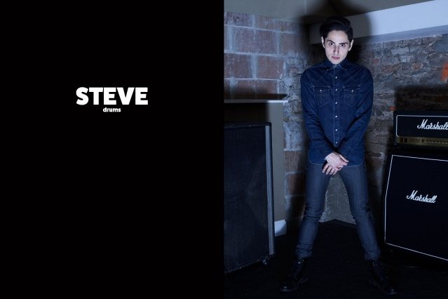 WYLDLIFE drummer Stevie Rios. Photographed by Alexander Thompson for Ponyboy magazine.