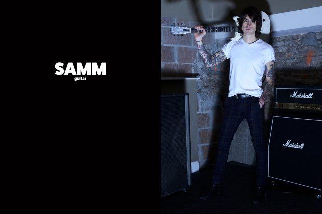 WYLDLIFE guitarist Samm Allen. Photographed by Alexander Thompson for Ponyboy magazine.