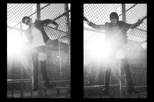 WYLDLIFE musicians Stevie Rios and Samm Allen. Photographed by Alexander Thompson for Ponyboy magazine.