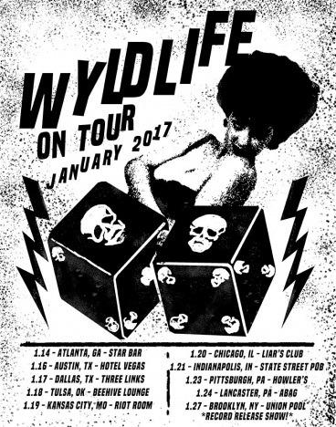 A flyer for WYLDLIFE tour, January 2017. Ponyboy magazine.