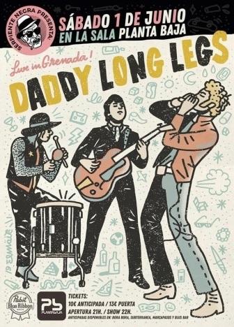 DADDY LONG LEGS band flyer. Ponyboy magazine.