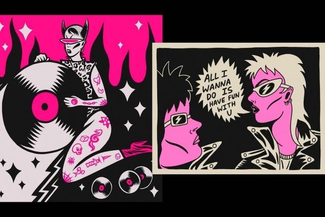 Eclectic illustrations by artist Ruth Mora. Ponyboy magazine.