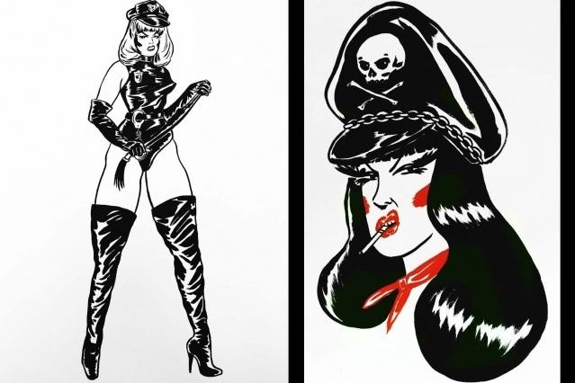 Powerful female illustrations by Ruth Mora. Ponyboy magazine.