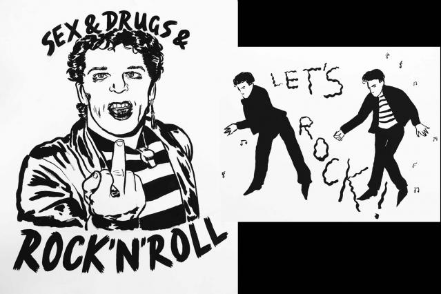 Rock 'n' roll illustrations by Ruth Mora. Ponyboy magazine.