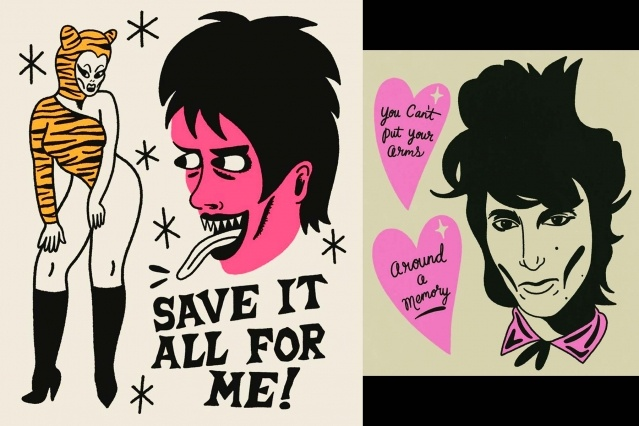 The Cramps and Johnny Thunders illustrations by Ruth Mora. Ponyboy magazine.