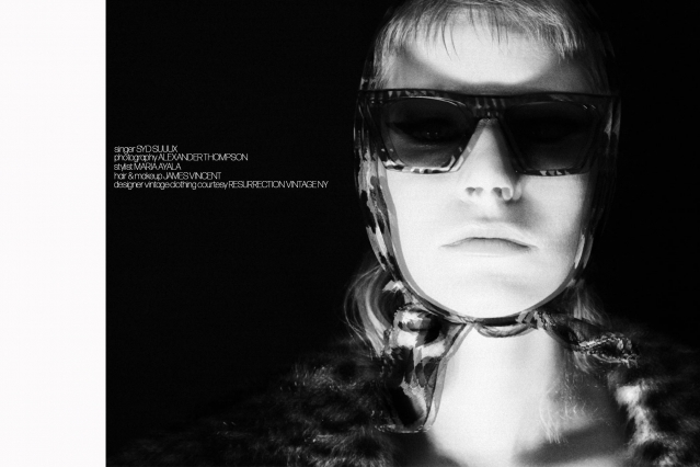 Singer Syd Suuux photographed by Alexander Thompson for Ponyboy magazine.