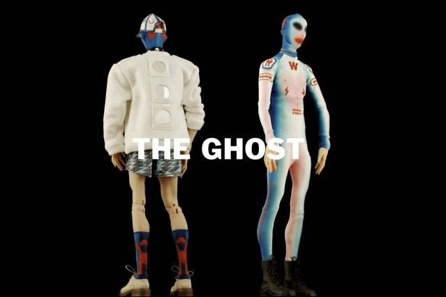 """""""The Ghost"""" look from Walter Van Beirendonck Spring/Summer 2021 collection, """"Mirror Ghosts Whisper Loud"""". Ponyboy magazine."""
