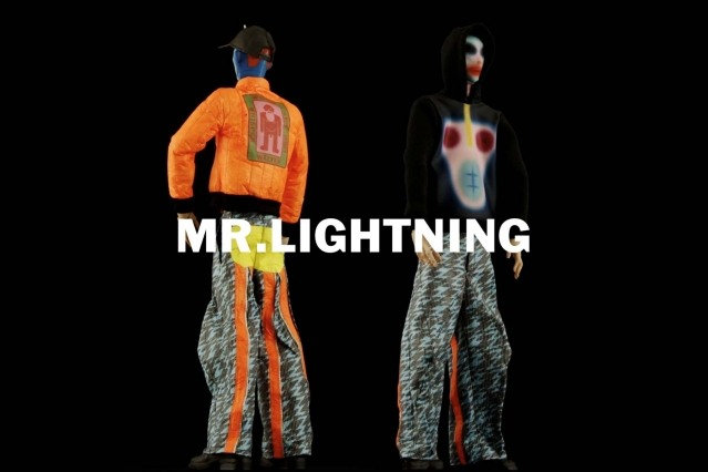 """Mr. Lightning"" look from Walter Van Beirendonck Spring/Summer 2021 collection, ""Mirror Ghosts Whisper Loud"". Ponyboy magazine."