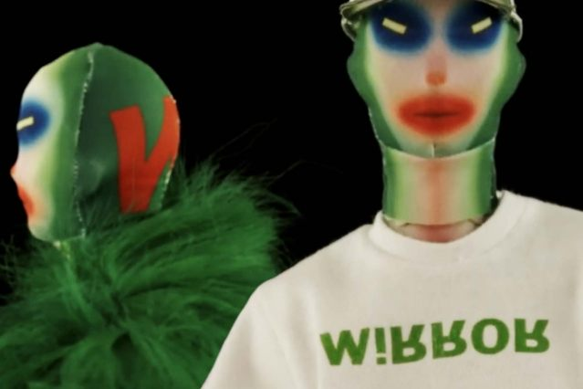 """Thunderman"" close-up look from Walter Van Beirendonck Spring/Summer 2021 collection, ""Mirror Ghosts Whisper Loud"". Ponyboy magazine."