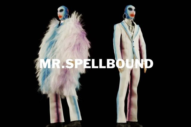 """Mr. Spellbound"" look from Walter Van Beirendonck Spring/Summer 2021 collection, ""Mirror Ghosts Whisper Loud"". Ponyboy magazine."
