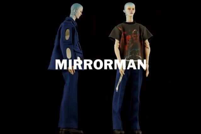 """Mirrorman"" look from Walter Van Beirendonck Spring/Summer 2021 collection, ""Mirror Ghosts Whisper Loud"". Ponyboy magazine."