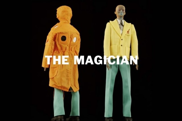"""The Magician"" look from Walter Van Beirendonck Spring/Summer 2021 collection, ""Mirror Ghosts Whisper Loud"". Ponyboy magazine."