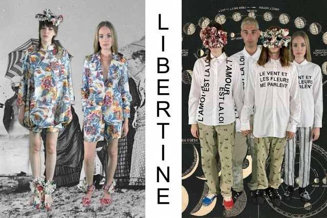 "Libertine Spring/Summer 2021 - ""Ghosts From Our Past"". Look #23 & #24. Ponyboy magazine."