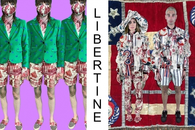 """Libertine Spring/Summer 2021 - """"Ghosts From Our Past"""". Look #25 & #26. Ponyboy magazine."""