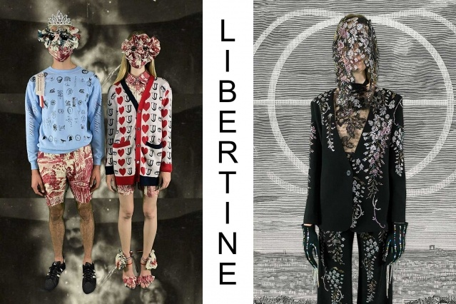 "Libertine Spring/Summer 2021 - ""Ghosts From Our Past"". Look #31 & #32. Ponyboy magazine."