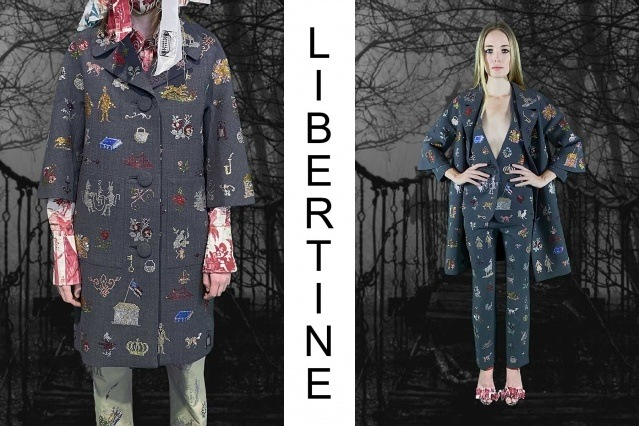 """Libertine Spring/Summer 2021 - """"Ghosts From Our Past"""". Look #33 & #34. Ponyboy magazine."""
