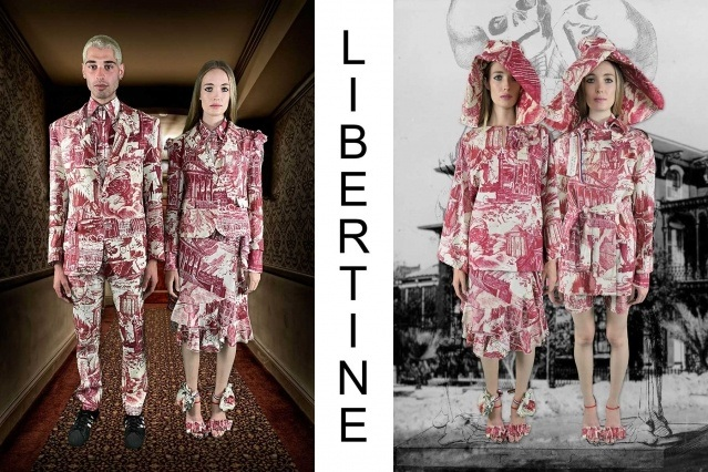 "Libertine Spring/Summer 2021 - ""Ghosts From Our Past"". Look #2 & #3. Ponyboy magazine."