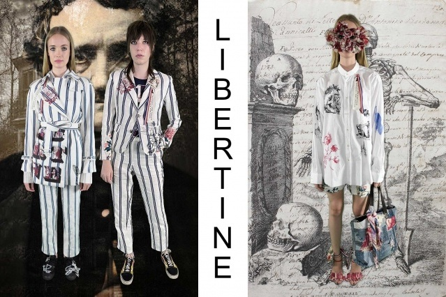 "Libertine Spring/Summer 2021 - ""Ghosts From Our Past"". Look #4 & #5. Ponyboy magazine."