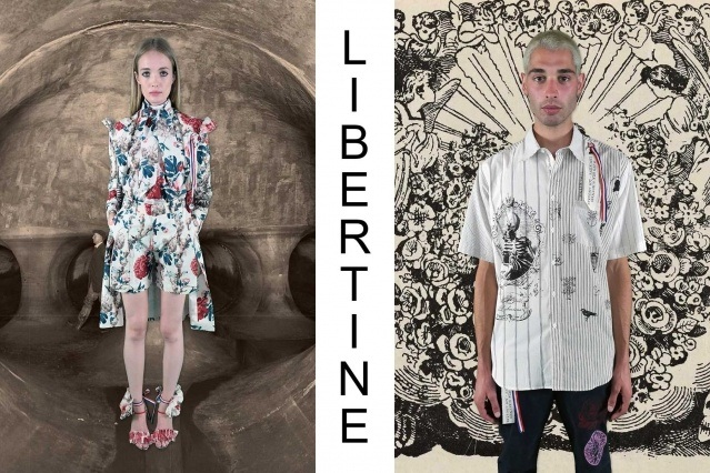 """Libertine Spring/Summer 2021 - """"Ghosts From Our Past"""". Look #15 & #16. Ponyboy magazine."""