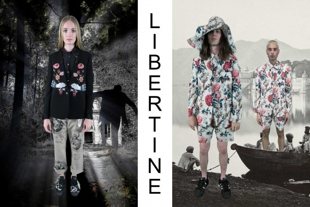 "Libertine Spring/Summer 2021 - ""Ghosts From Our Past"". Look #17 & #18. Ponyboy magazine."