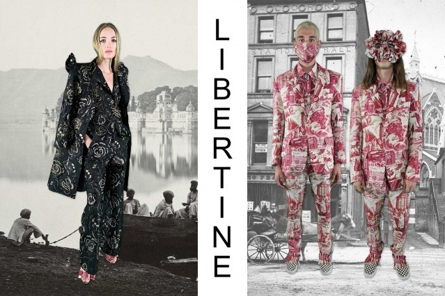 """Libertine Spring/Summer 2021 - """"Ghosts From Our Past"""". Look #19 & #20. Ponyboy magazine."""