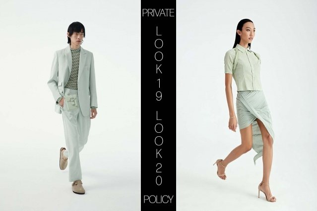 Private Policy for Spring Summer 2021 - Look 19 & 20. Ponyboy magazine.