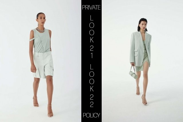 Private Policy for Spring Summer 2021 - Look 21 & 22. Ponyboy magazine.