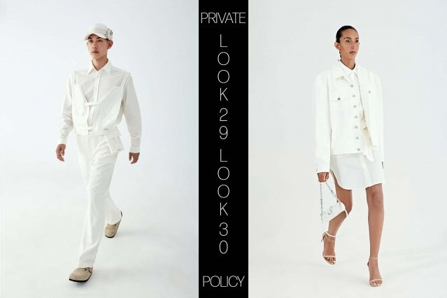 Private Policy for Spring Summer 2021 - Look 29 & 30. Ponyboy magazine.