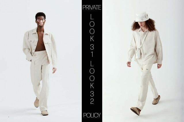 Private Policy for Spring Summer 2021 - Look 31 & 32. Ponyboy magazine.