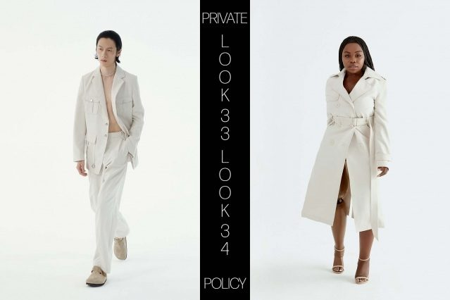 Private Policy for Spring Summer 2021 - Look 33 & 34. Ponyboy magazine.