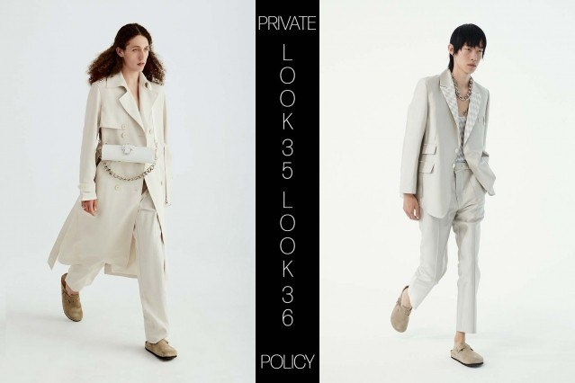 Private Policy for Spring Summer 2021 - Look 35 & 36. Ponyboy magazine.