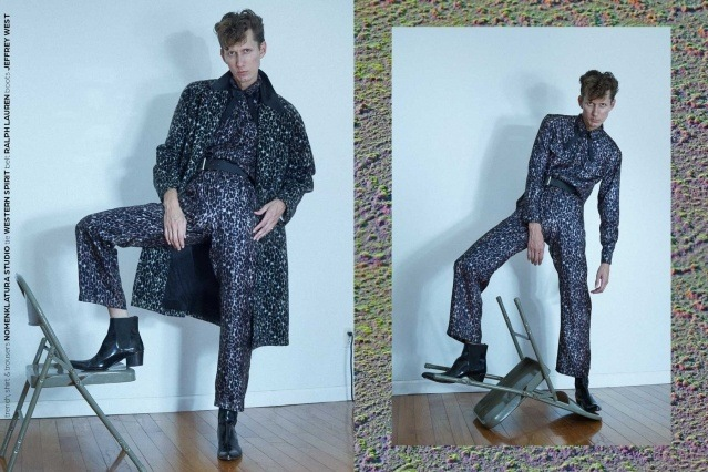 Artist Dean Dempsey photographed in Nomenklatura Studio clothing by Alexander Thompson for Ponyboy magazine.