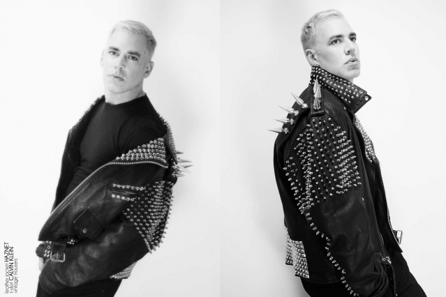 Musician/comedian John Roberts photographed for Ponyboy magazine in New York City. Photography by Alexander Thompson.