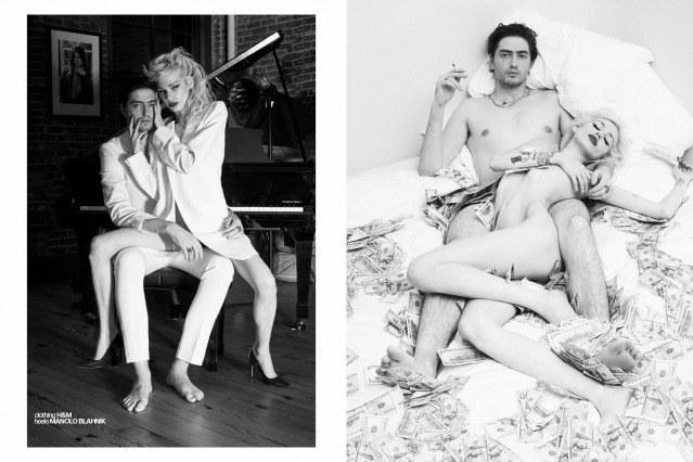 Model Kirra Hughes and boyfriend Spencer Draeger photographed by Alexander Thompson for Ponyboy magazine.