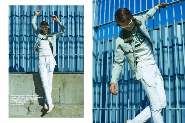 Denim Glasses menswear editorial with William Schmacker. Photography by Alexander Thompson, with styling by Matthew Bartow.