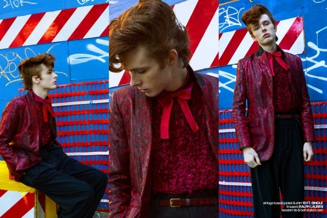 Let It Rock! Musician/model Aiden Yobear photographed in a Teddy boy look by Alexander Thompson for Ponyboy magazine.