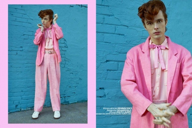 Let It Rock! Musician/model Aiden Yobear photographed in a Teddy boy look by Alexander Thompson in NYC for Ponyboy magazine.