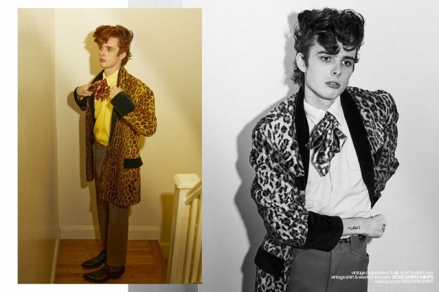 Let It Rock! Musician/model Aiden Yobear photographed in a Teddy boy look by Alexander Thompson in New York City for Ponyboy magazine.