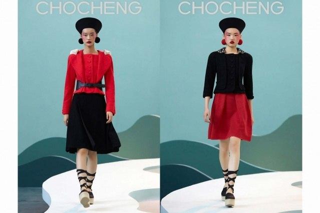 Chocheng AW21 by designer Cho Cho Cheng - Looks #19 & 20. Ponyboy magazine.