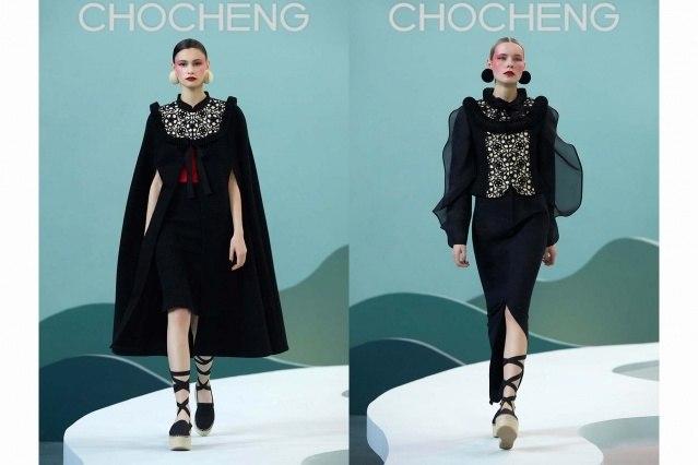 Chocheng AW21 by designer Cho Cho Cheng - Looks #27 & 28. Ponyboy magazine.