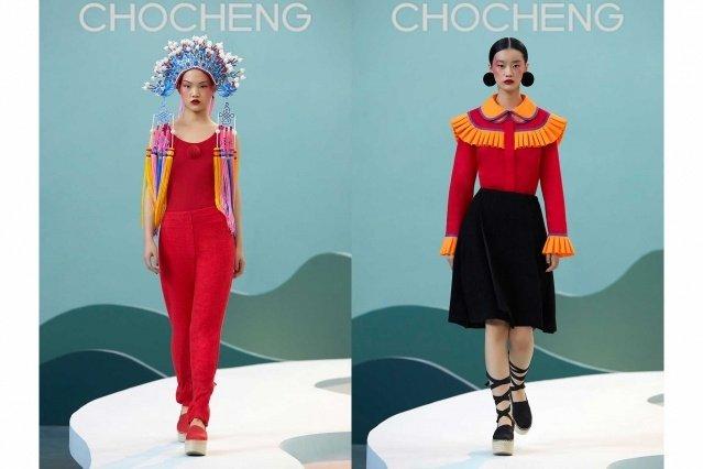 Chocheng AW21 by designer Cho Cho Cheng - Looks #1 & 2. Ponyboy magazine.