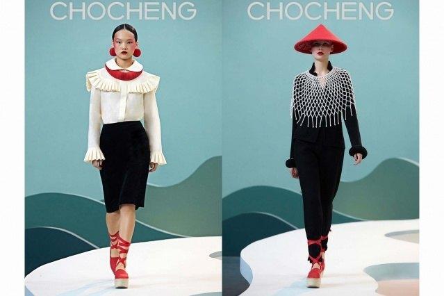Chocheng AW21 by designer Cho Cho Cheng - Looks #7 & 8. Ponyboy magazine.