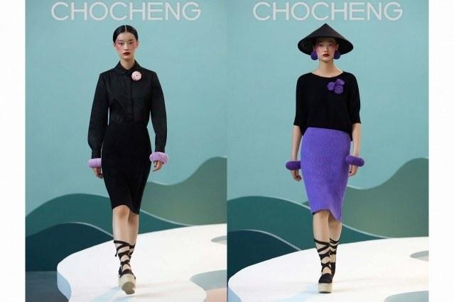 Chocheng AW21 by designer Cho Cho Cheng - Looks #11 & 12. Ponyboy magazine.
