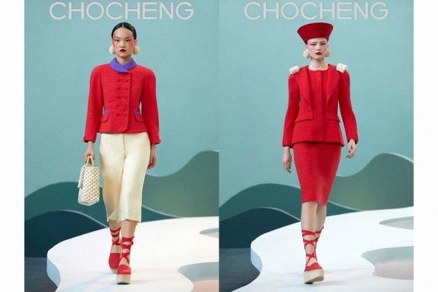 Chocheng AW21 by designer Cho Cho Cheng - Looks #13 & 14. Ponyboy magazine.