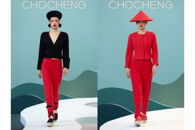 Chocheng AW21 by designer Cho Cho Cheng - Looks #17 & 18. Ponyboy magazine.
