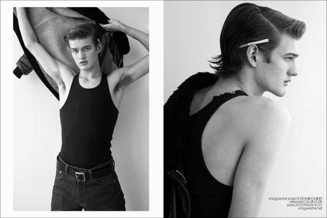 Ponyboy Q&A with model Hunter Essex - spread 2. Photography & styling by Alexander Thompson.