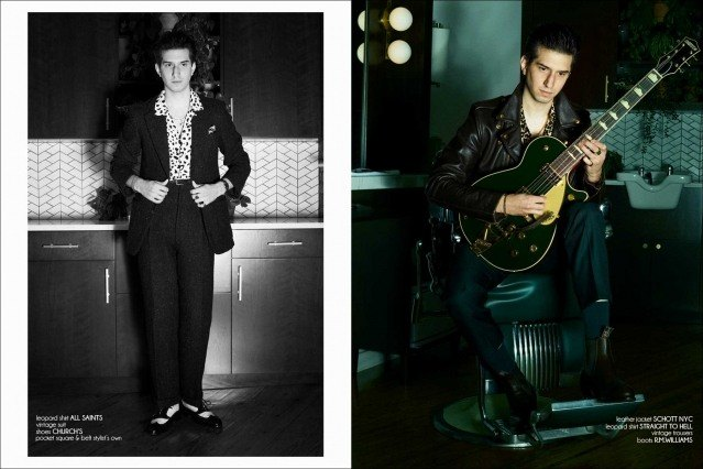 New York City barber/musician Keith Cayea for Ponyboy, photographed by Alexander Thompson - spread #1.